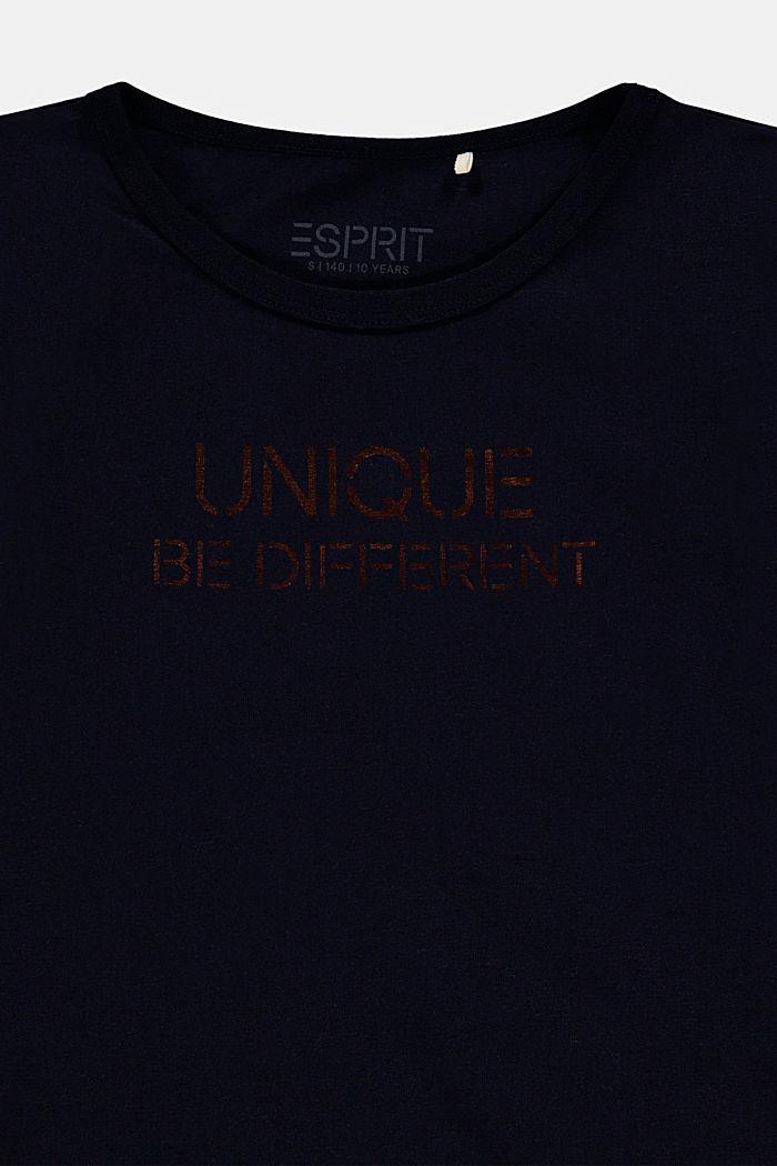 Koszulka z metalicznym nadrukiem, NAVY, detail image number 2