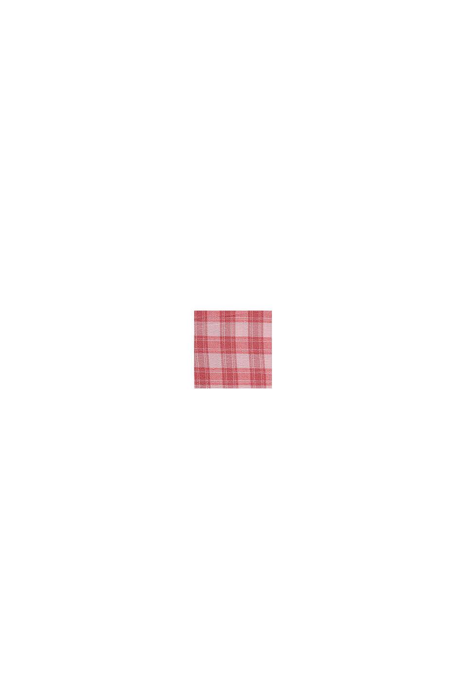 Lange Bluse mit Karomuster, 100% Baumwolle, PASTEL PINK, swatch