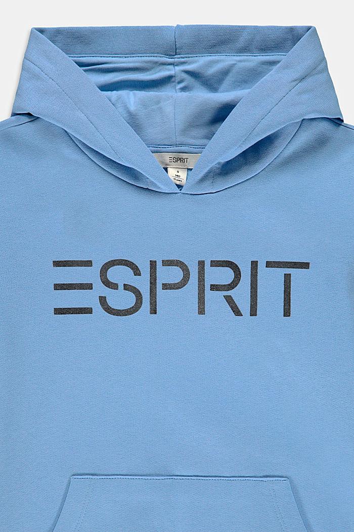 Katoenen hoodie met logo, BRIGHT BLUE, detail image number 2