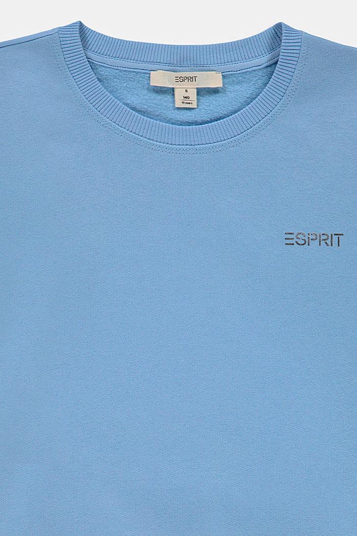 Logo-Sweatshirt aus 100% Baumwolle, BRIGHT BLUE, detail image number 2