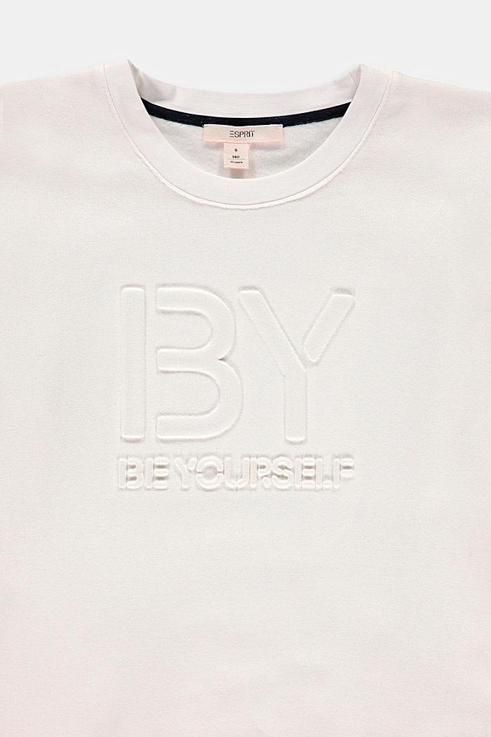 Statement-Sweatshirt aus 100% Baumwolle, DUSTY NUDE, detail image number 2
