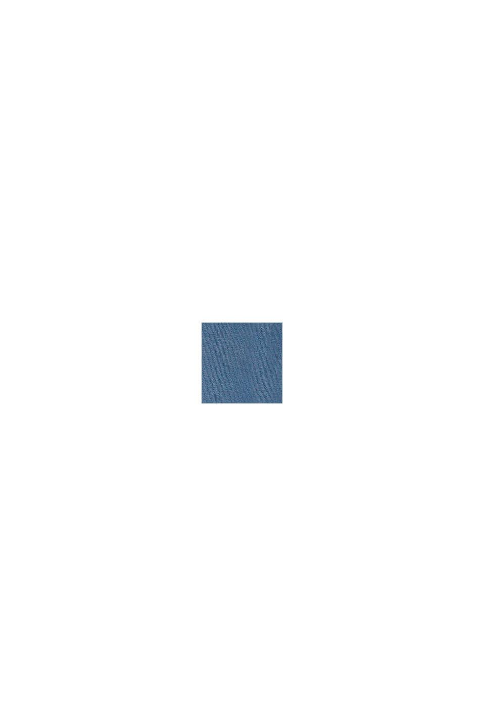 Kortare huvtröja med tryck i 100% bomull, BLUE MEDIUM WASHED, swatch