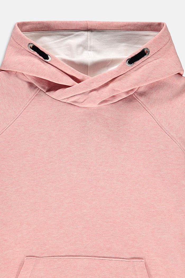 Reciclado: sudadera con capucha y efecto jaspeado, PASTEL PINK, detail image number 2