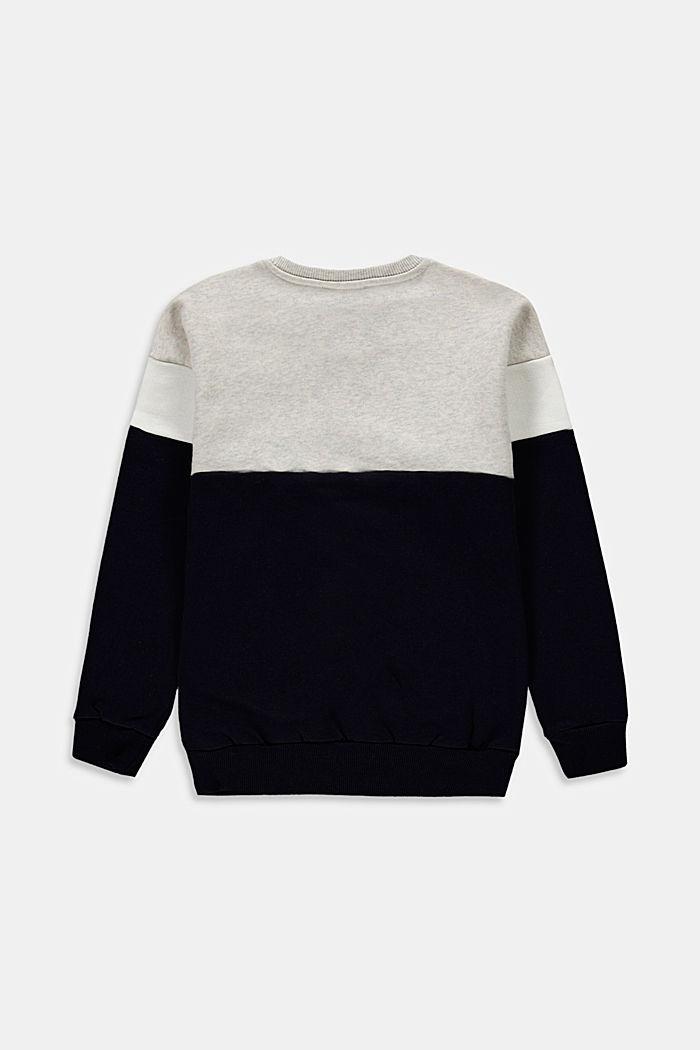 Sweatshirt med färgblock i 100% bomull