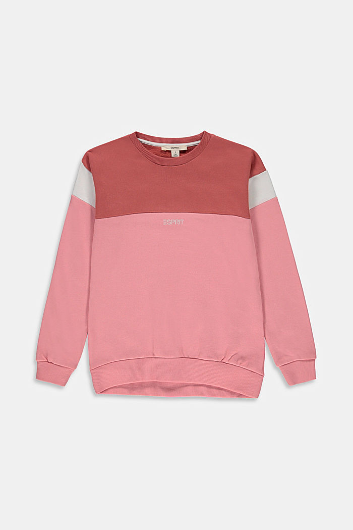 Colour block sweatshirt in 100% cotton