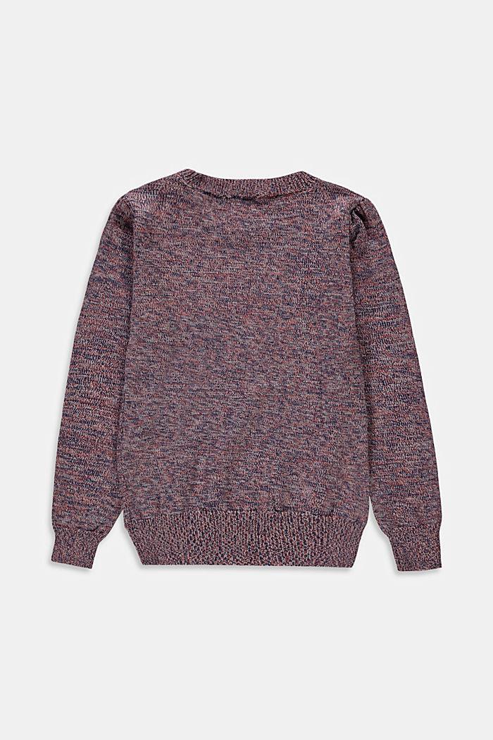 Pullover mit Puffärmeln aus Baumwoll-Mix, MAUVE, detail image number 1