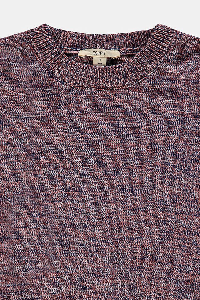 Pull-over à manches bouffantes en coton mélangé, MAUVE, detail image number 2