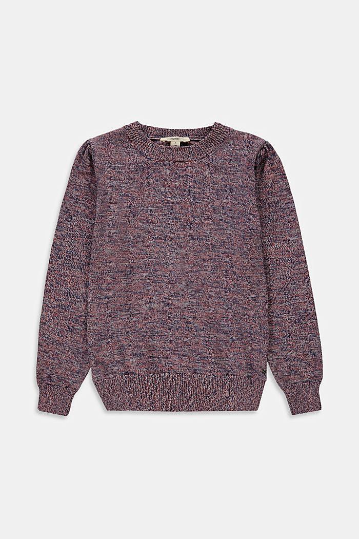 Pullover mit Puffärmeln aus Baumwoll-Mix, MAUVE, detail image number 0