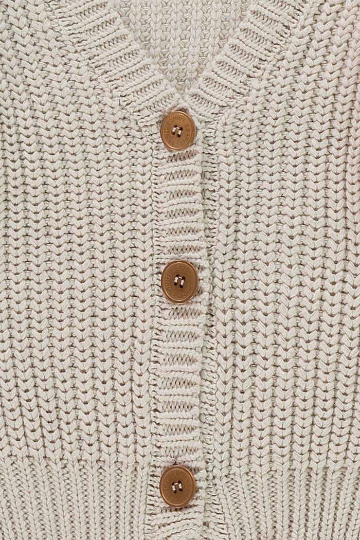 Skrócony kardigan, 100% bawełny, SILVER, detail image number 2
