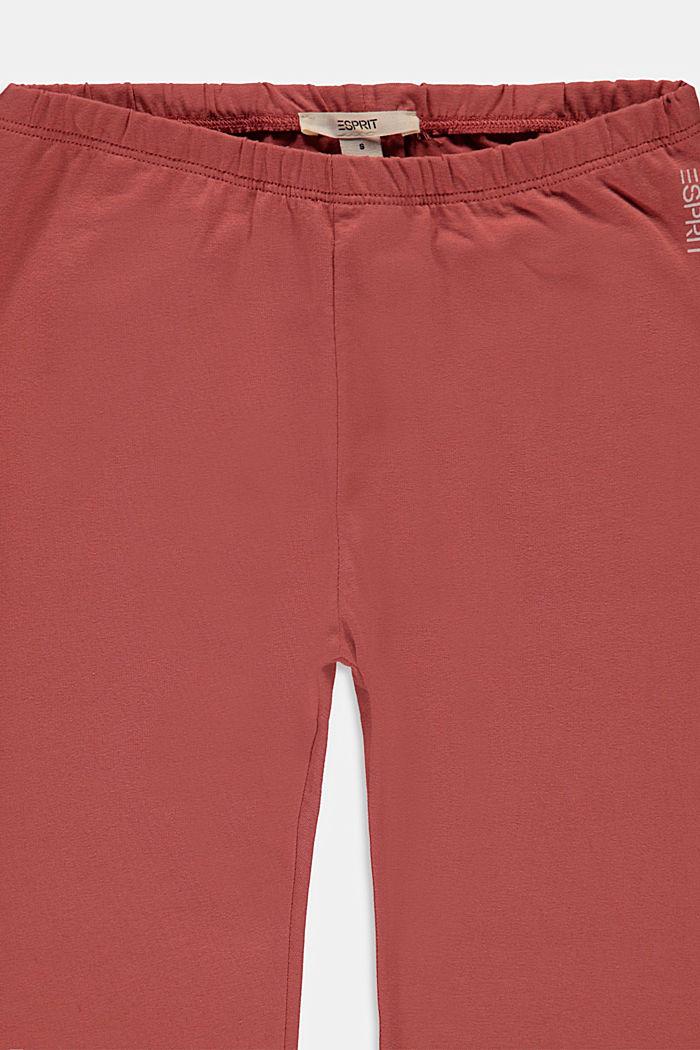 Basic stretch cotton leggings, DARK MAUVE, detail image number 2