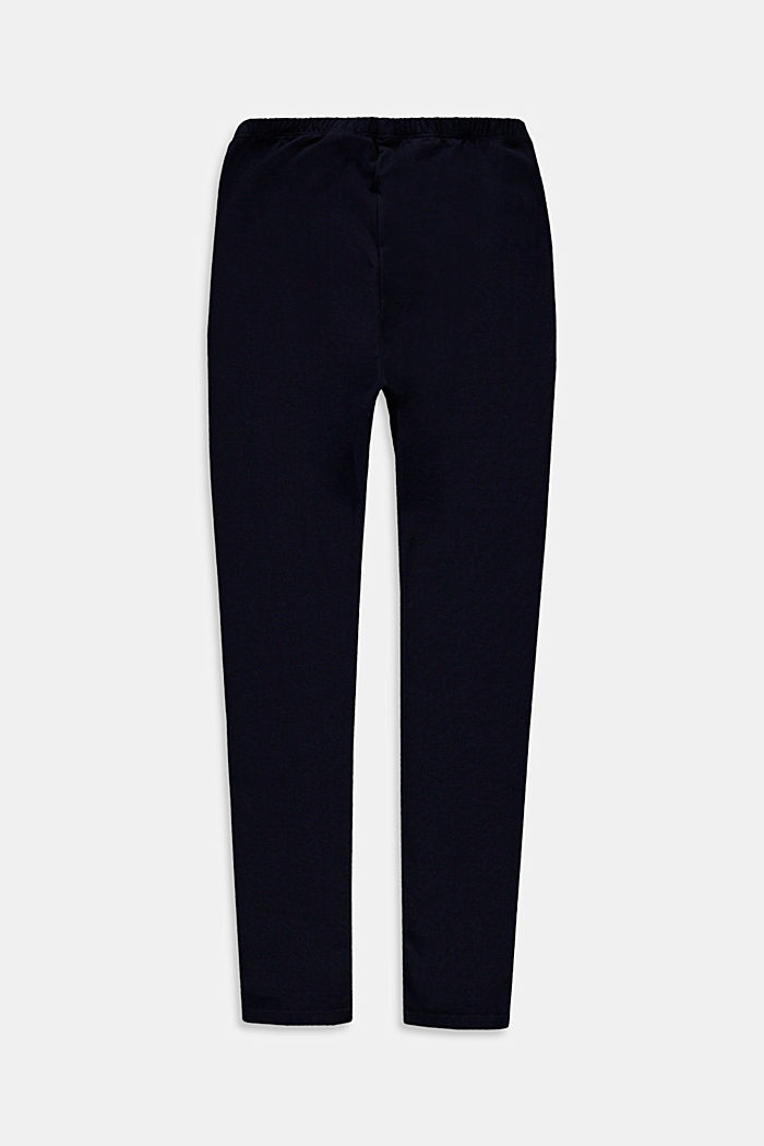 Basic Leggings aus Baumwoll-Stretch