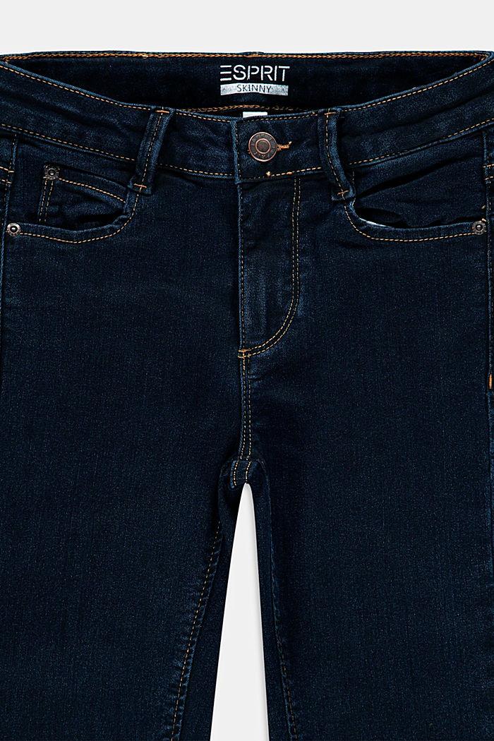 Jean stretch en coton mélangé, BLUE RINSE, detail image number 2