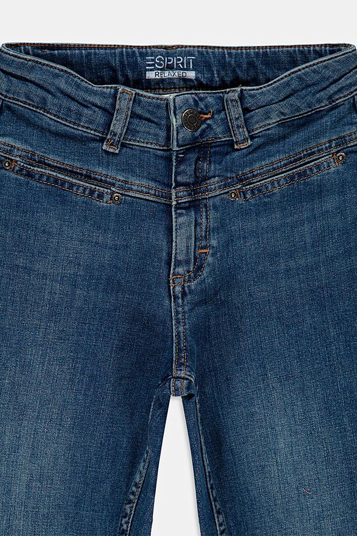 Vaqueros mom de algodón con cintura ajustable, BLUE MEDIUM WASHED, detail image number 2