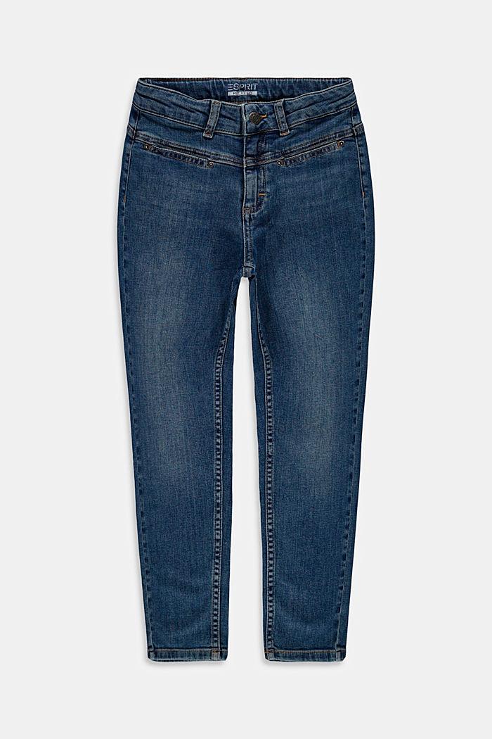 Mom-Jeans aus Baumwolle mit Verstellbund