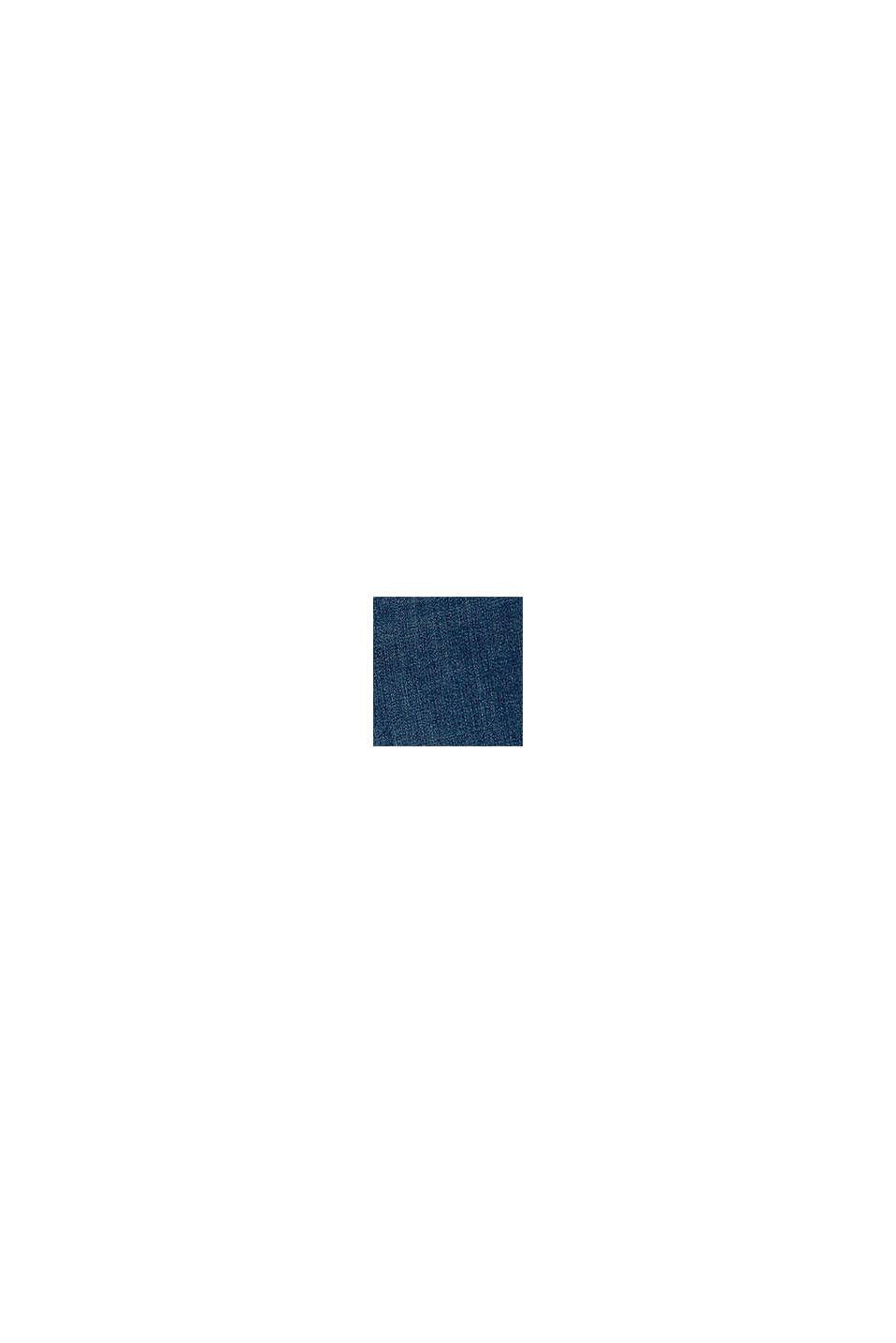 Mom-Jeans aus Baumwolle mit Verstellbund, BLUE MEDIUM WASHED, swatch