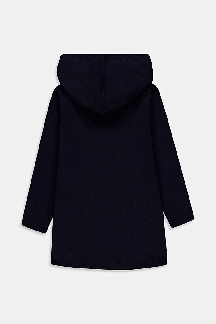 Sweatkleid aus 100% Baumwolle, NAVY, detail image number 1