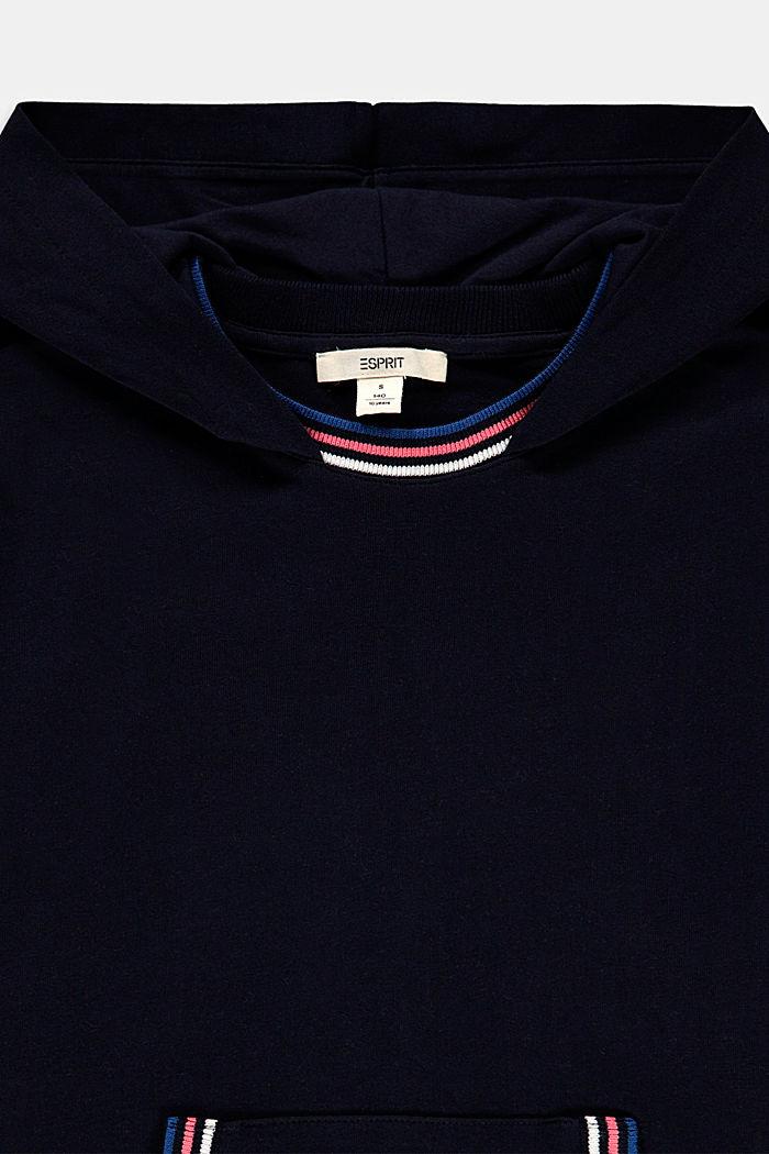Sweatkleid aus 100% Baumwolle, NAVY, detail image number 2