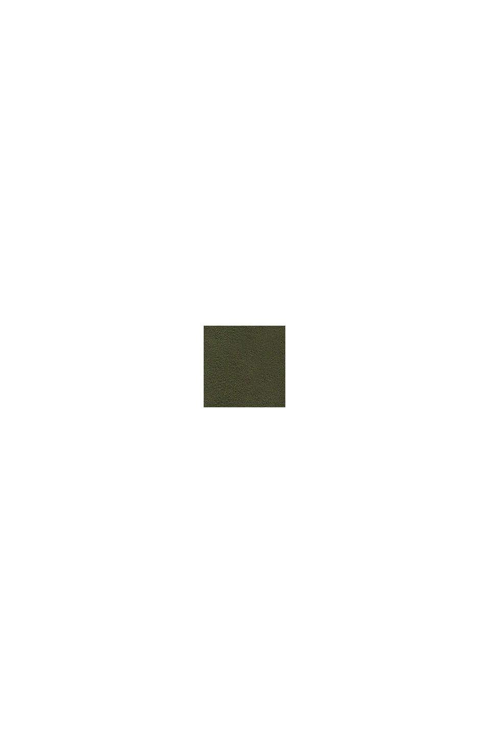 Sweatjurk met print van 100% katoen, KHAKI GREEN, swatch