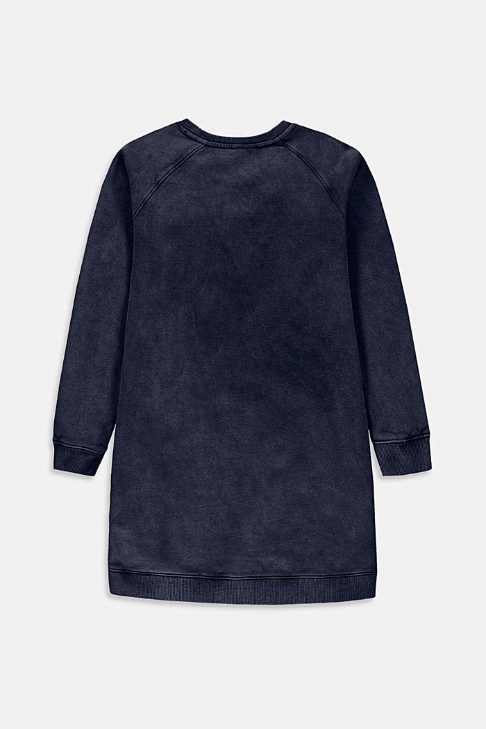 Sweatshirtklänning i 100% bomull