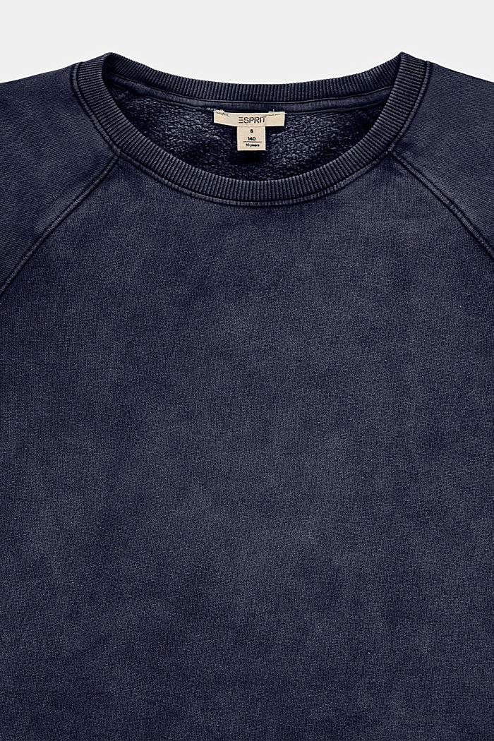 Sukienka z dzianiny dresowej, 100% bawełny, BLUE DARK WASHED, detail image number 2