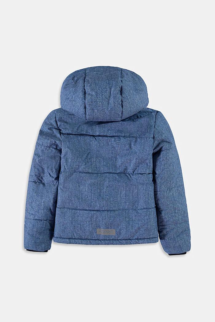 Gewatteerde jas met capuchon en fleece voering