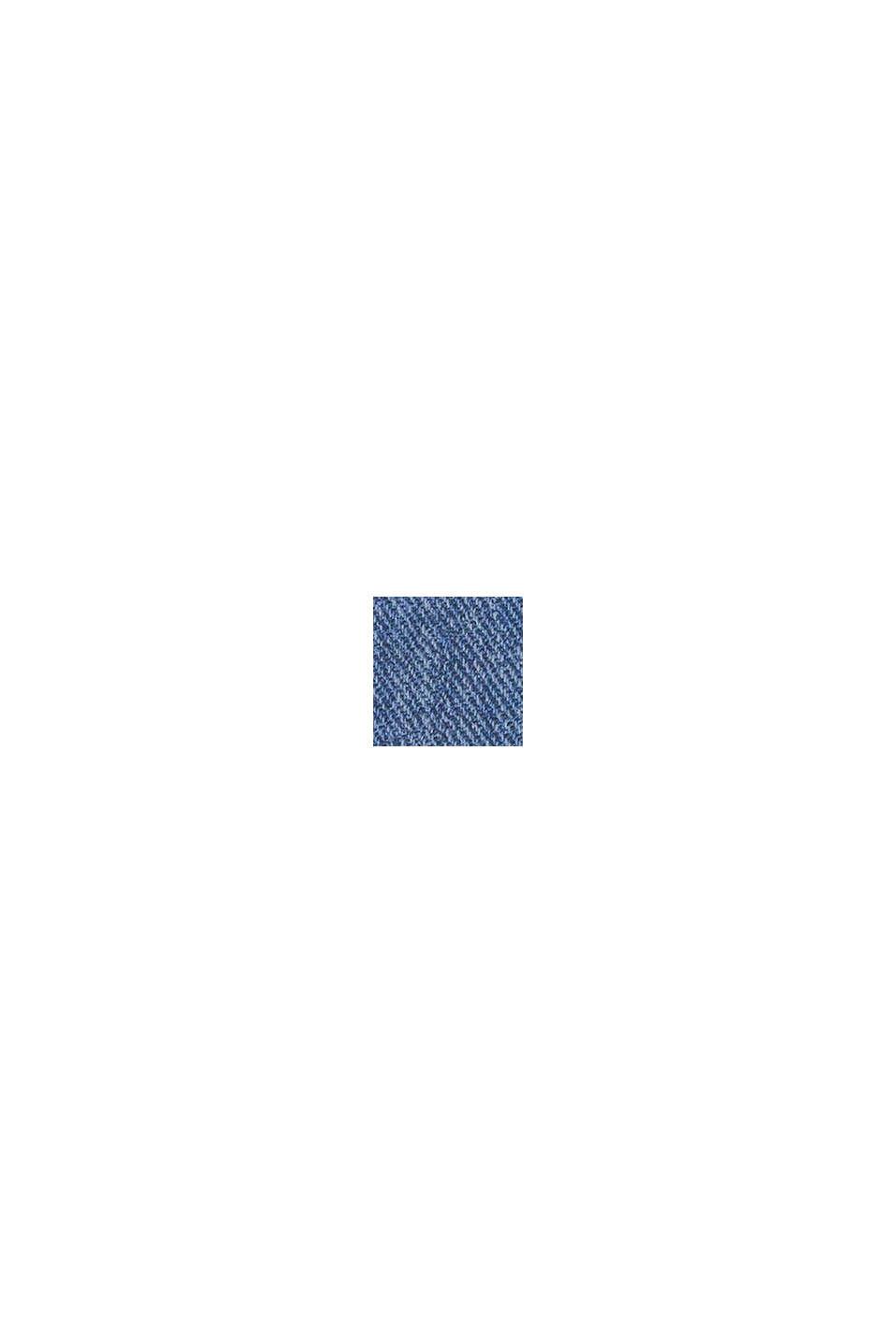 Gewatteerde jas met capuchon en fleece voering, BLUE, swatch
