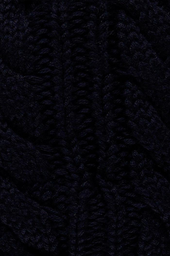 Bonnet en maille à pompon, NAVY, detail image number 2