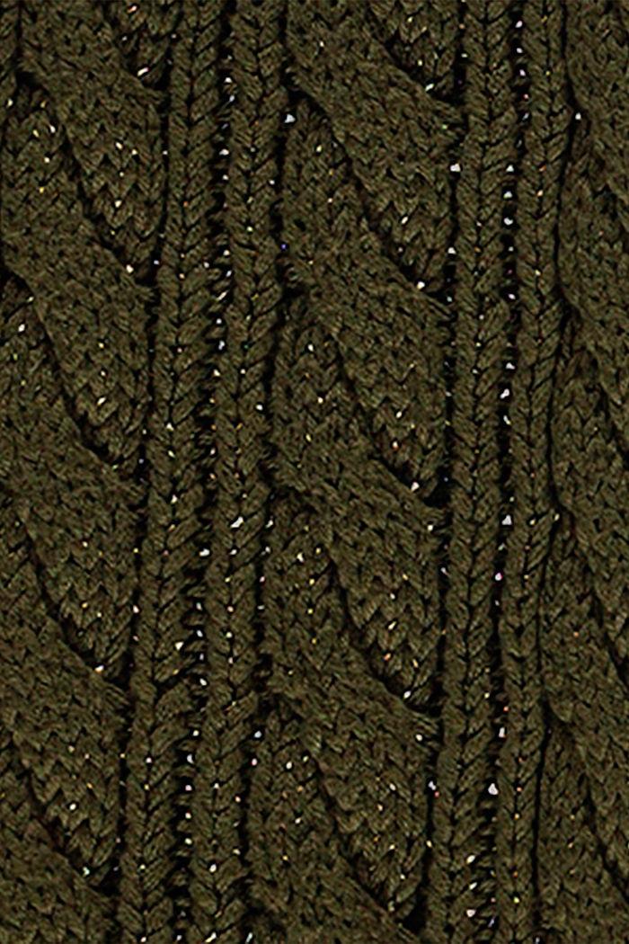 Sciarpa in maglia di misto cotone, KHAKI GREEN, detail image number 2
