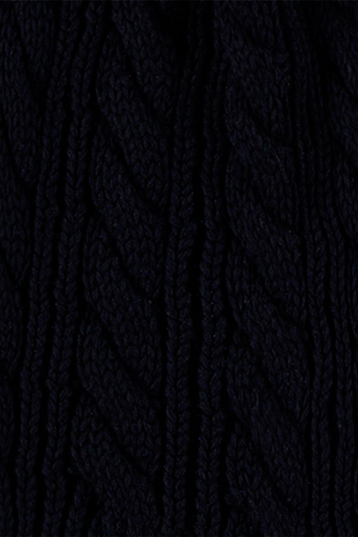 Blended cotton knitted scarf, NAVY, detail image number 2