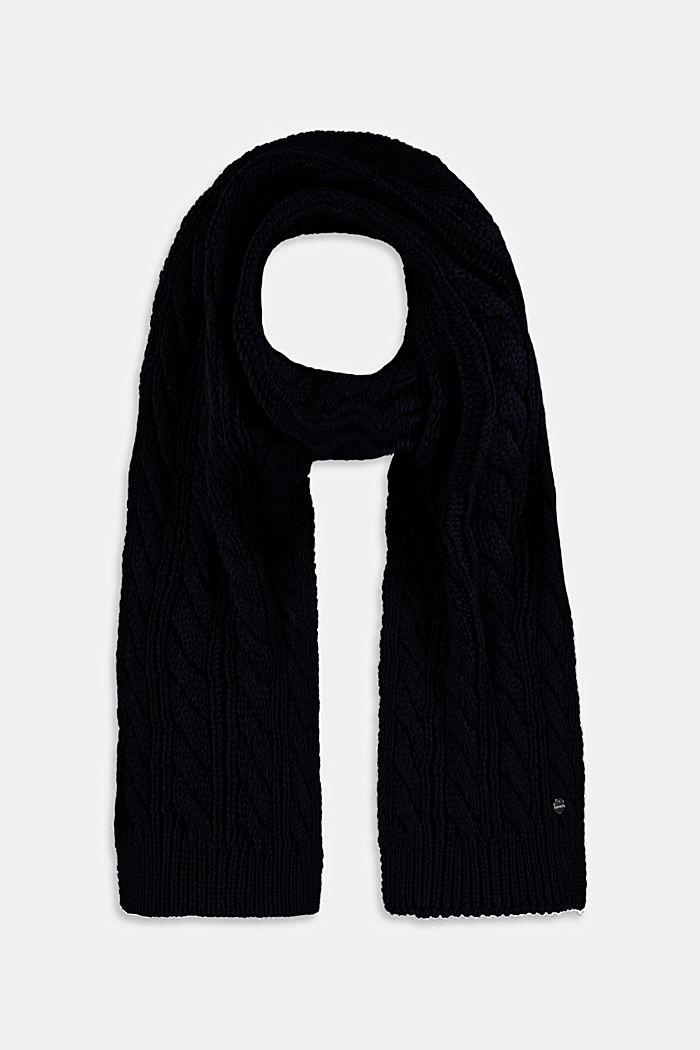 Gebreide sjaal van een katoenmix