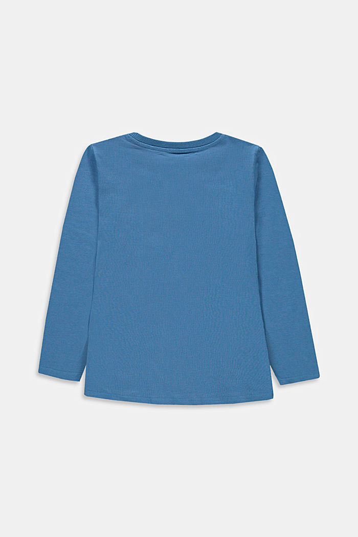 T-shirt à manches longues et poche-poitrine, 100% coton, LIGHT BLUE, detail image number 1