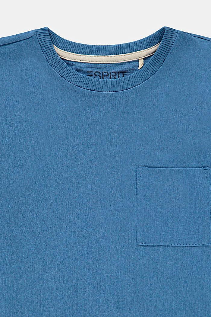 T-shirt à manches longues et poche-poitrine, 100% coton, LIGHT BLUE, detail image number 2