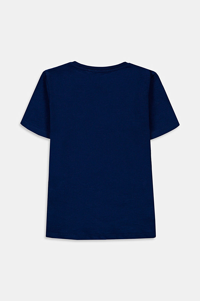 T-shirt con stampa, 100% cotone, BLUE, detail image number 1