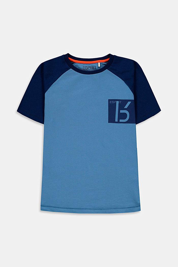T-shirt z nadrukiem, 100% bawełny, LIGHT BLUE, detail image number 0