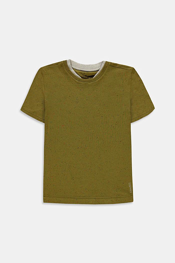T-shirt med dubbelkrage i bomull