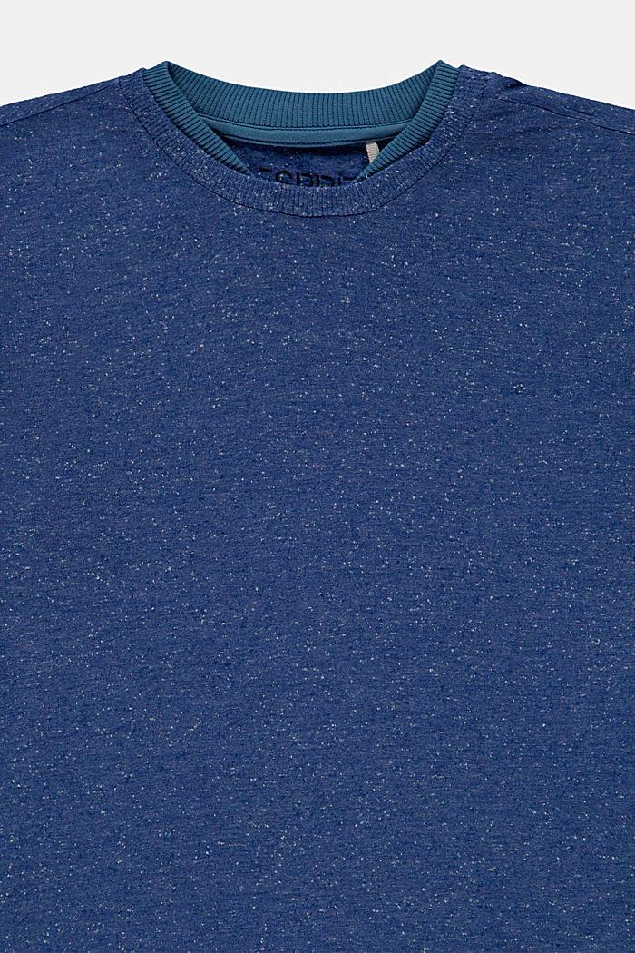 T-shirt con doppio colletto in cotone, BLUE, detail image number 2