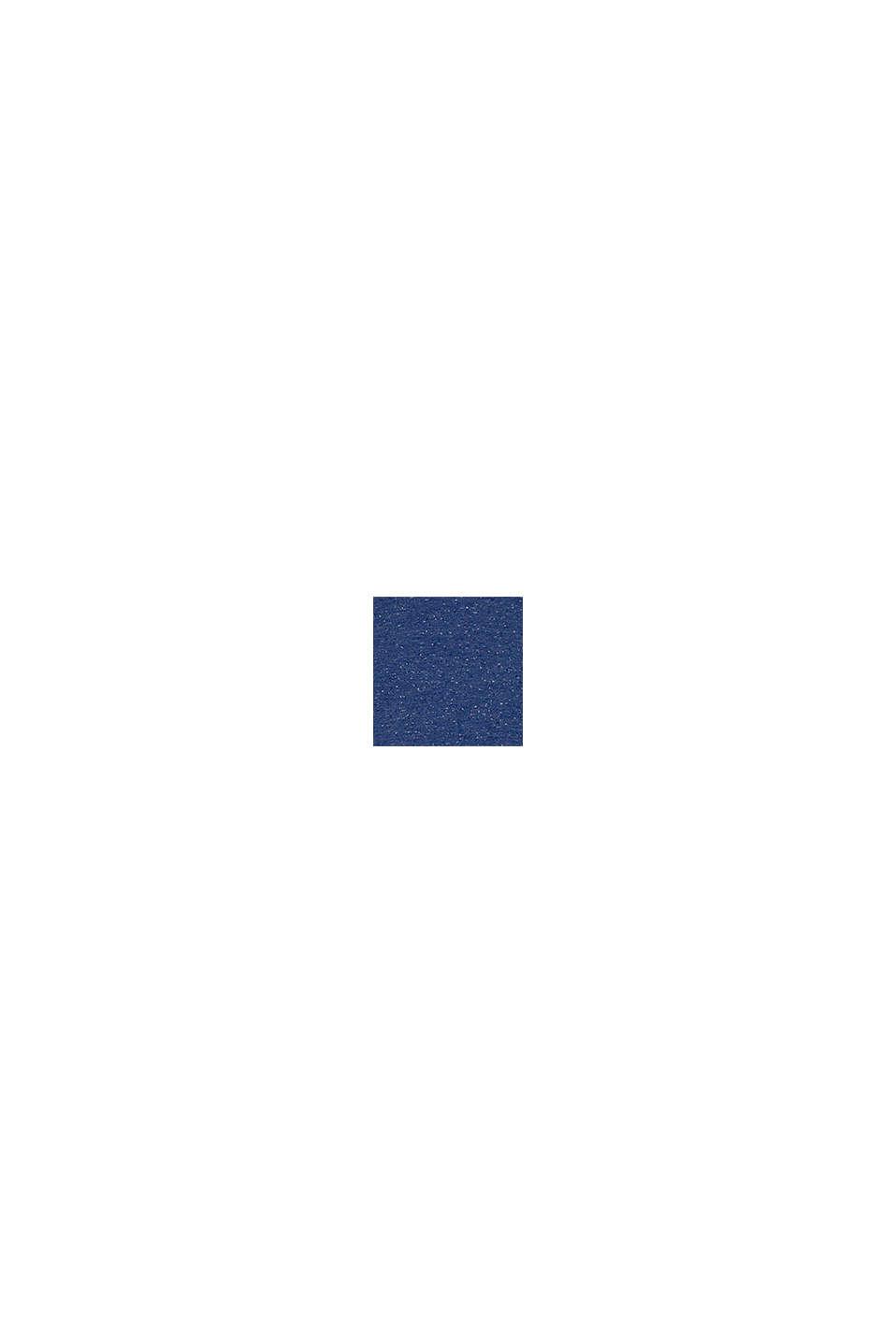 T-shirt med dubbelkrage i bomull, BLUE, swatch