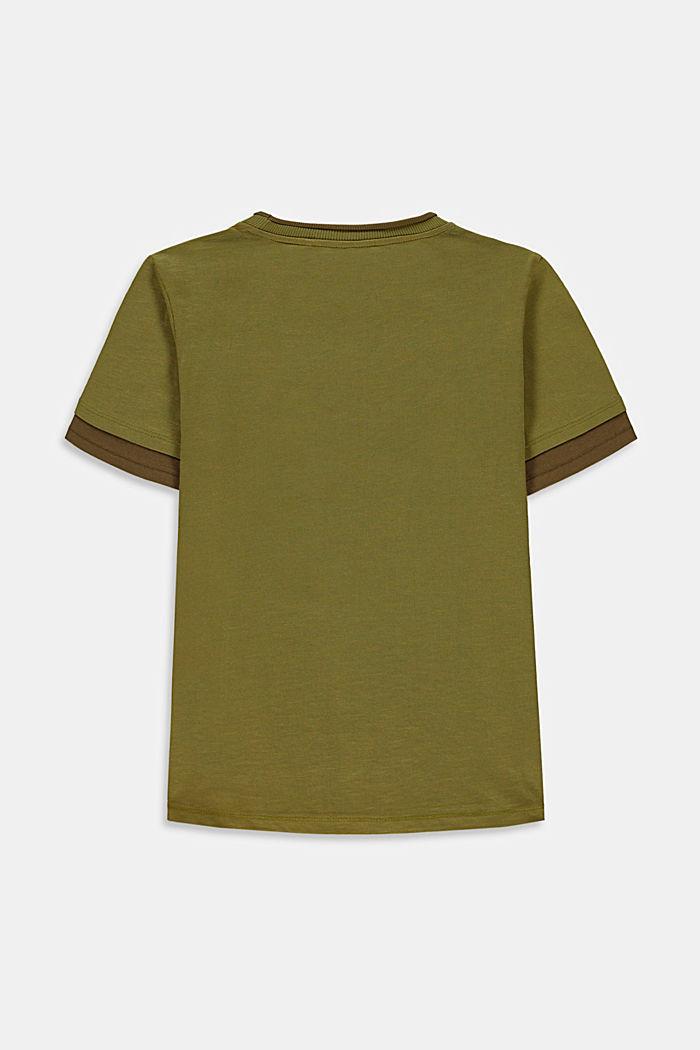 T-Shirt im Lagenlook mit Print, LEAF GREEN, detail image number 1