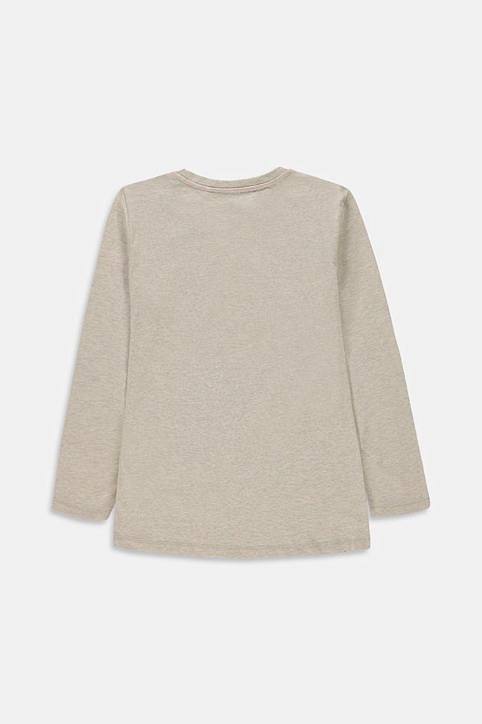 Maglia stampata a maniche lunghe, 100% cotone