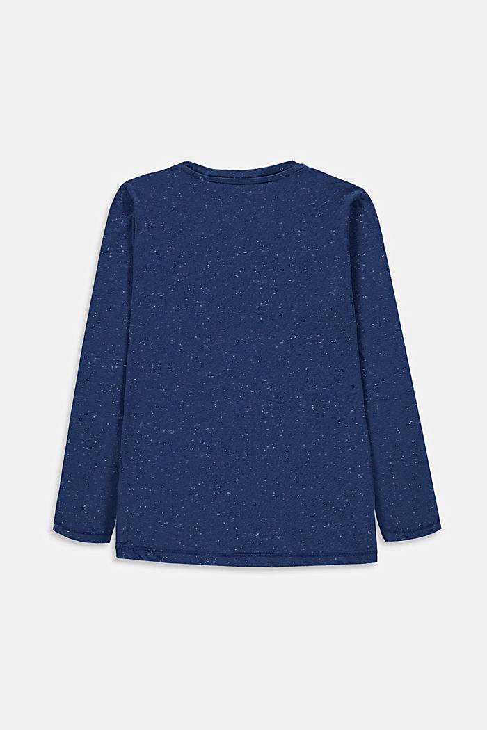 Camiseta de manga larga estampada, 100% algodón, BLUE, detail image number 1