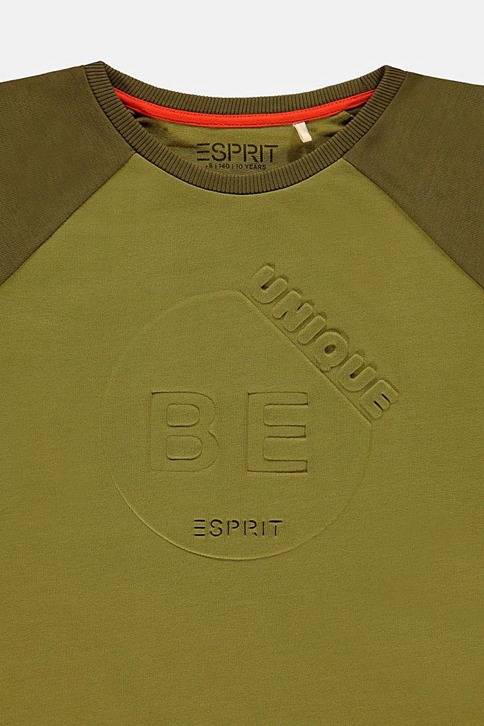 Longsleeve mit 3D-Print aus 100% Baumwolle, OLIVE, detail image number 2