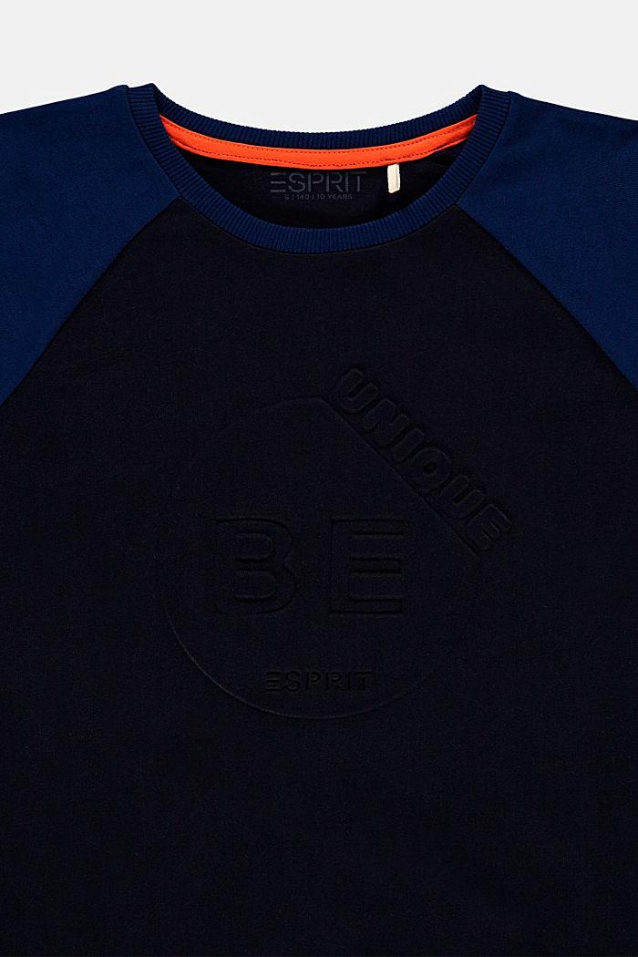 Bluzka z długim rękawem z nadrukiem 3D ze 100% bawełny, NAVY, detail image number 2