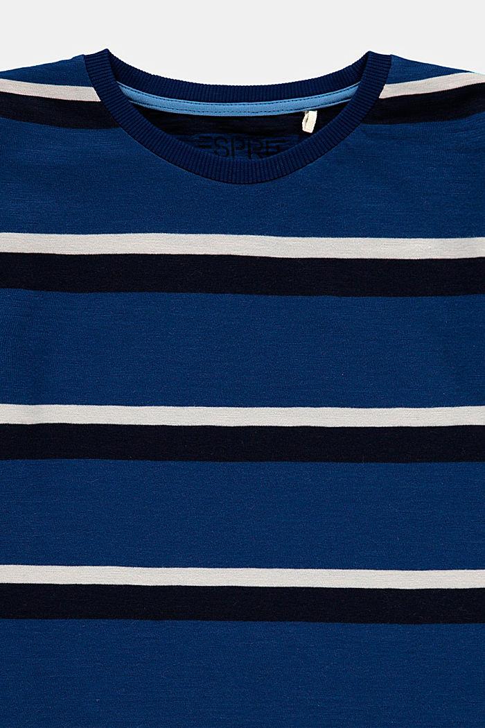 T-shirt w paski, 100% bawełny, BLUE, detail image number 2