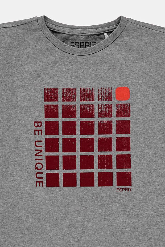 Recycelt: T-Shirt mit Print aus Baumwolle, PASTEL GREY, detail image number 2