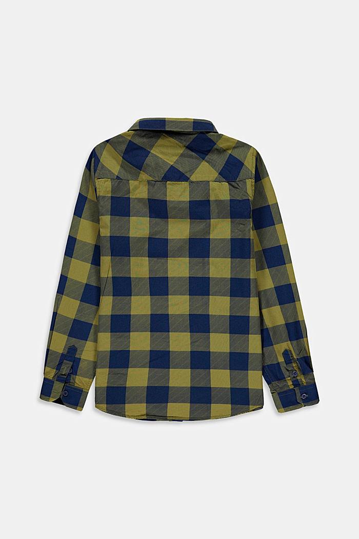 Karo-Hemd mit Brusttasche, 100% Baumwolle, LEAF GREEN, detail image number 1