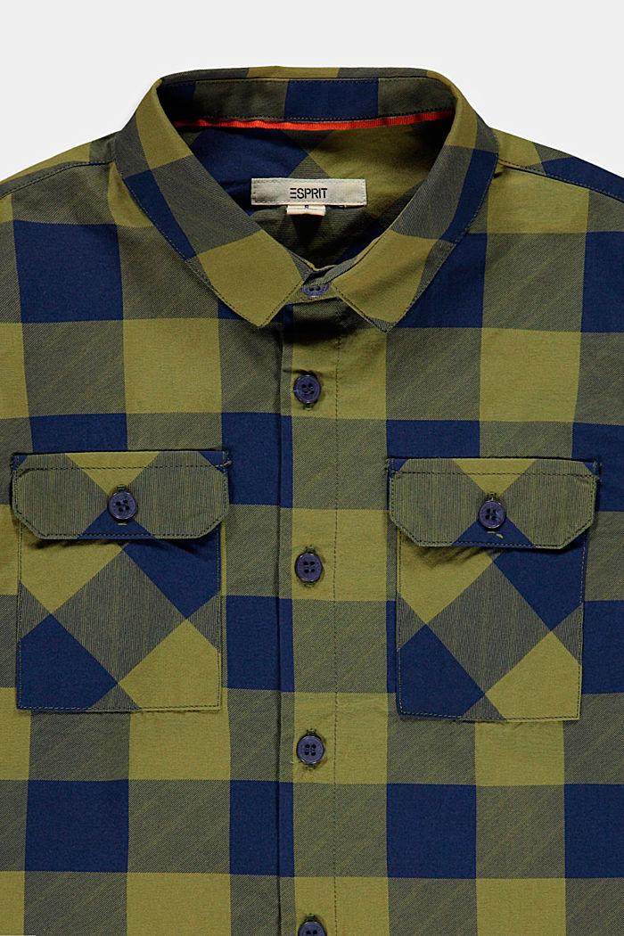 Karo-Hemd mit Brusttasche, 100% Baumwolle, LEAF GREEN, detail image number 2