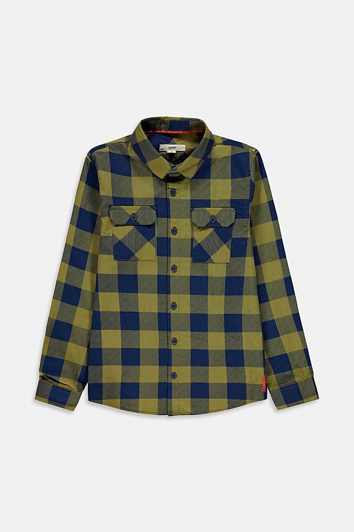 Karo-Hemd mit Brusttasche, 100% Baumwolle, LEAF GREEN, detail image number 0