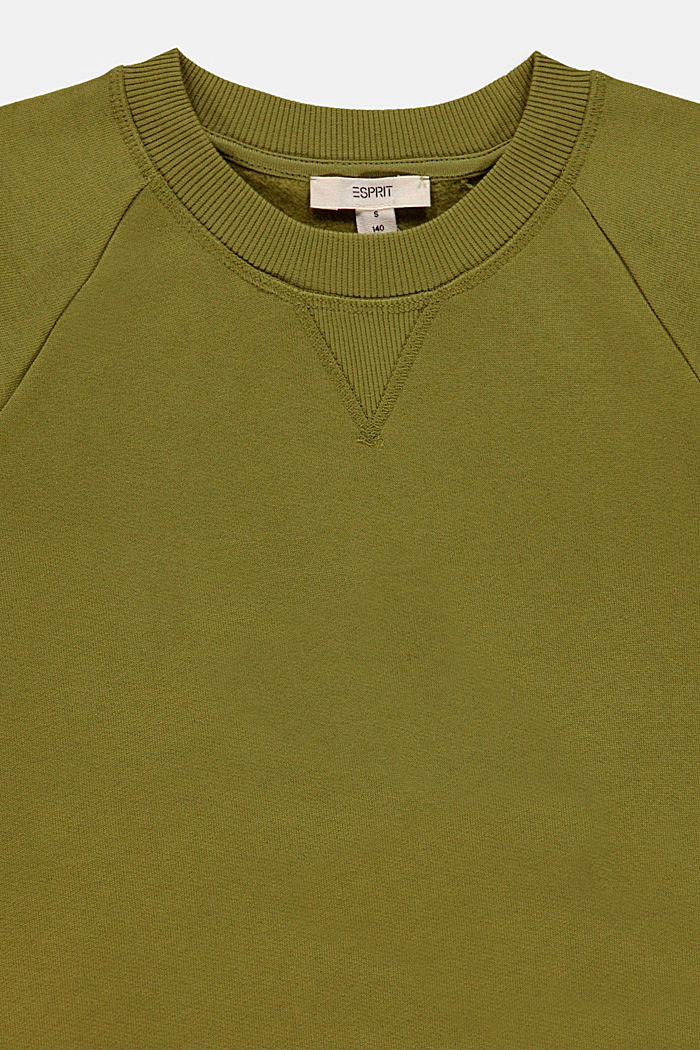 Sweatshirt in 100% cotton, LEAF GREEN, detail image number 2
