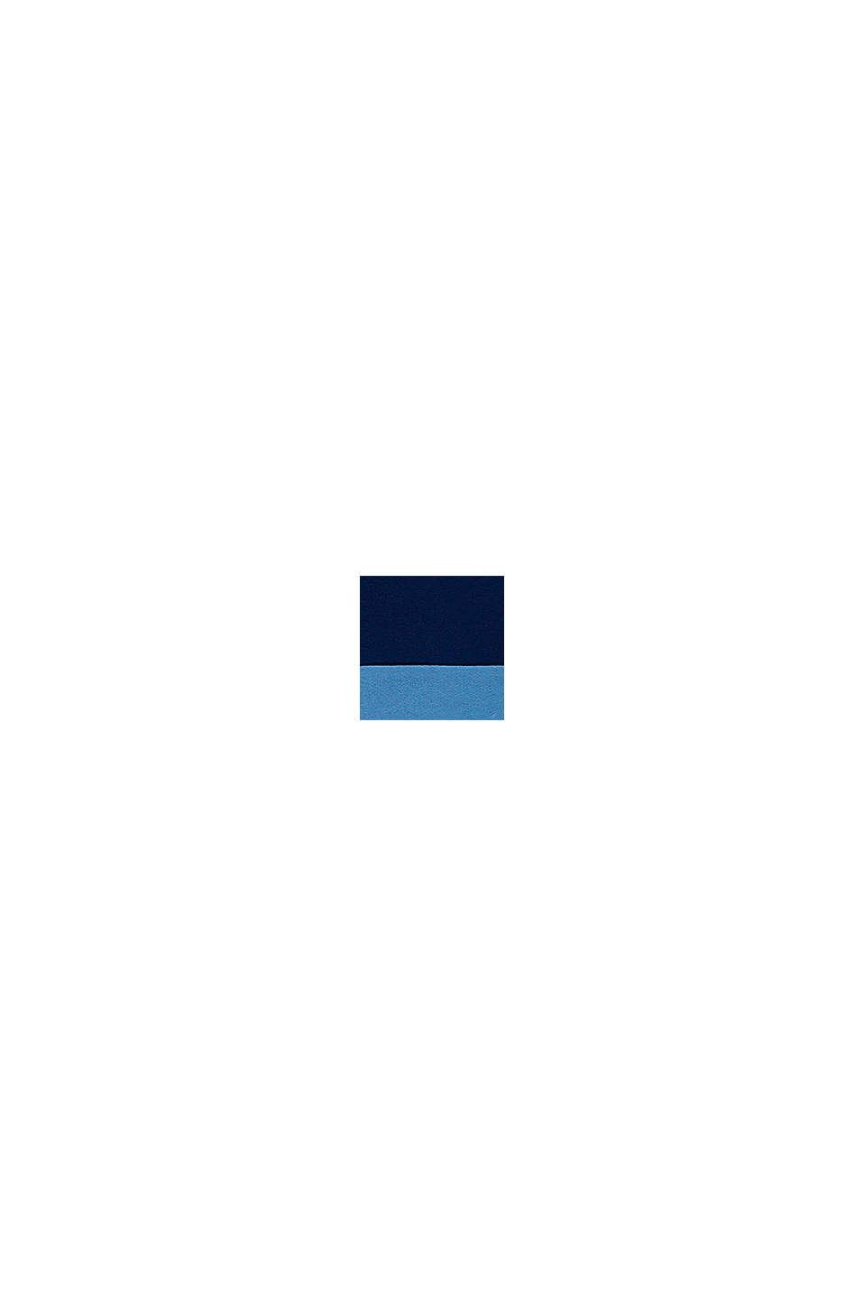 Katoenen vest met rits en colour block, BLUE, swatch