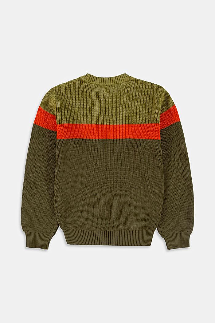 Jersey de algodón con rayas contrastantes